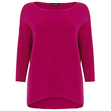 Buy Phase Eight Piera Round Neck Knitted Jumper, Magenta Online at johnlewis.com