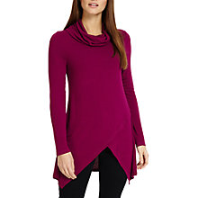 Buy Phase Eight Tara Roll Neck Top, Magenta Online at johnlewis.com