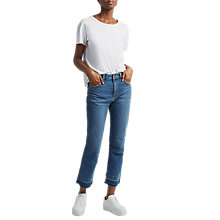 Buy French Connection High Rise Straight Leg Jeans, Vintage Online at johnlewis.com