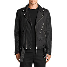 Buy AllSaints Torrance Leather Biker Jacket, Black Online at johnlewis.com