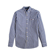 Buy Joules Hewney Gingham Classic Fit Shirt, Navy Online at johnlewis.com