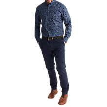 Buy Joules Invitation Floral Print Shirt, Navy Indi Ditsy Online at johnlewis.com