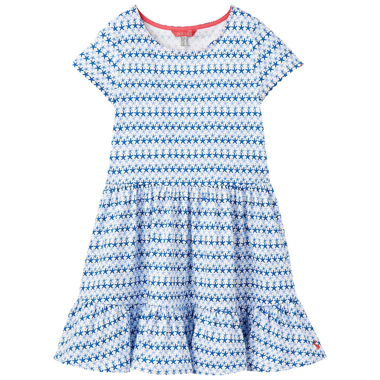 Joules Girls\' Coco Starfish Dress, Blue at John Lewis
