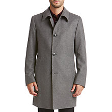 Buy HUGO by Hugo Boss Mitask Overcoat, Medium Grey Online at johnlewis.com