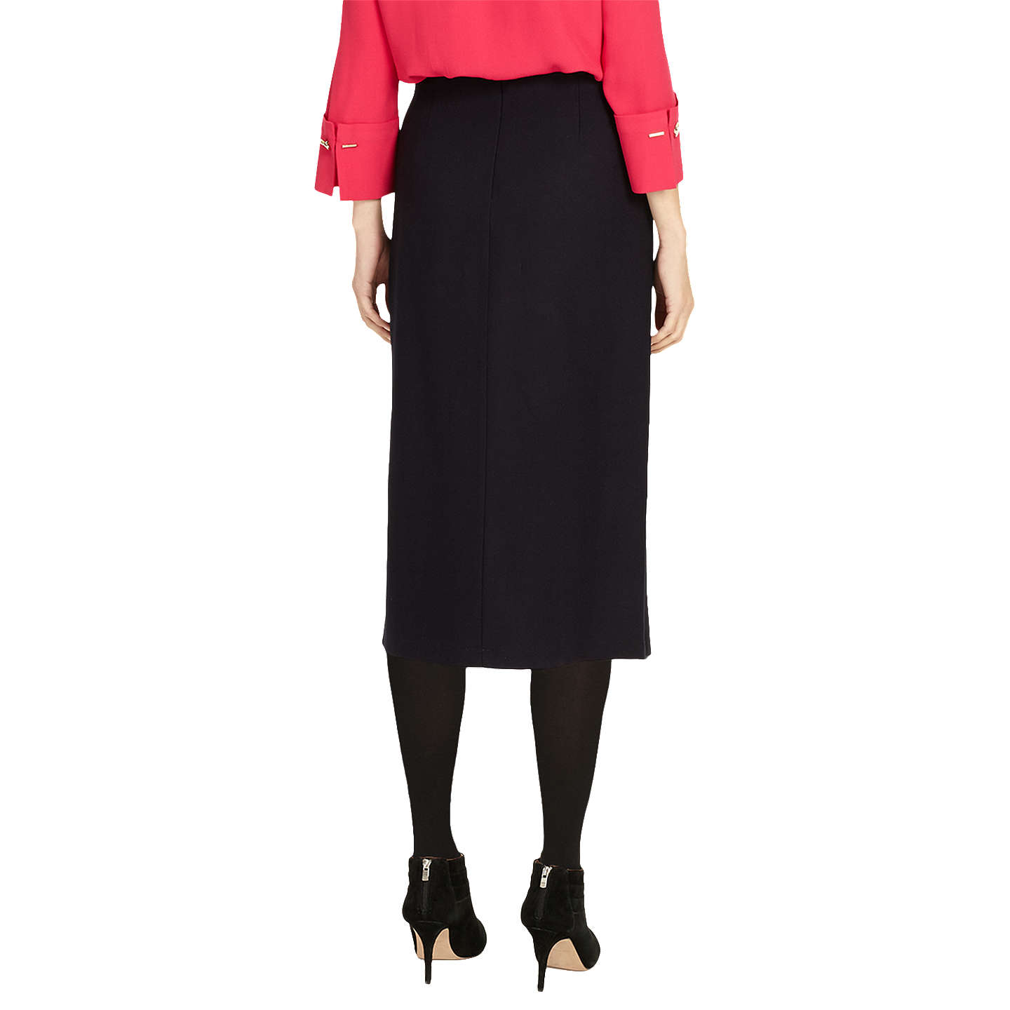 BuyPhase Eight Emeraude Cross Front Skirt, Navy, 8 Online at johnlewis.com
