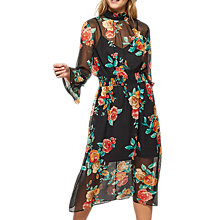 Buy Miss Selfridge Floral Rose Midi Dress, Assorted Online at johnlewis.com