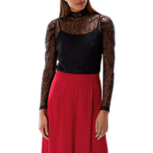 Buy Coast Finn Lace Top, Black Online at johnlewis.com