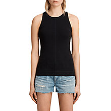 Buy AllSaints Joni Vest Top, Black/Ink Blue Online at johnlewis.com