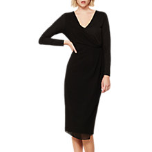 Buy Mint Velvet Draped Wrap Jersey Dress, Black Online at johnlewis.com