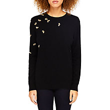 Buy Ted Baker Calliee Bee Embellished Jumper, Black Online at johnlewis.com