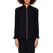 Buy Ted Baker Karmynn Hot Fix Bomber Jacket, Black Online at johnlewis.com