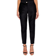 Buy Ted Baker Kairaat Velvet Suit Trousers, Black Online at johnlewis.com