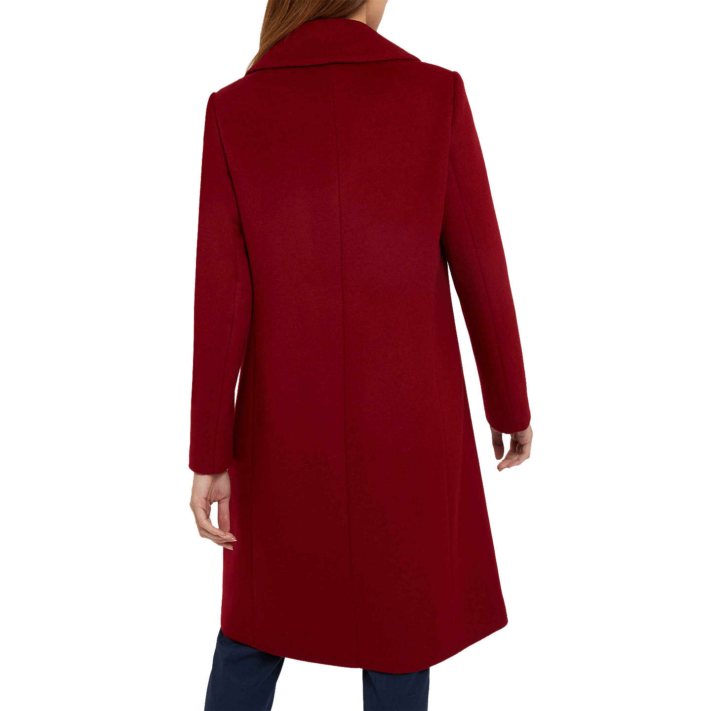 BuyJaeger A-Line Wool Coat, Burgundy, 14 Online at johnlewis.com