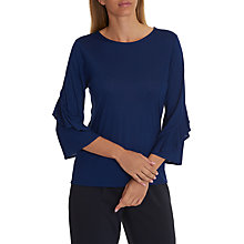 Buy Betty & Co. Frilled Sleeve Top, Blue Ink Online at johnlewis.com