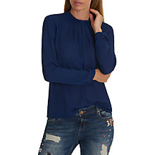 Buy Betty & Co. Pleated Chiffon Blouse, Blue Ink Online at johnlewis.com