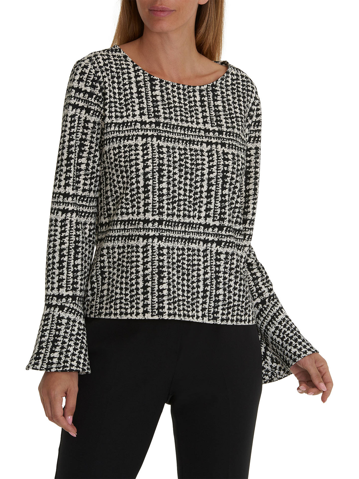 BuyBetty & Co. Photo Print Top, Black/Cream, 10 Online at johnlewis.com
