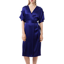 Buy Finery Constable Tie Waist Dress, Bright Blue Online at johnlewis.com