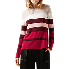 Buy Jigsaw Colour Block Stripe Wool Jumper Online at johnlewis.com