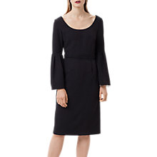 Buy Finery Elgin Flute Sleeve Dress, Black Online at johnlewis.com