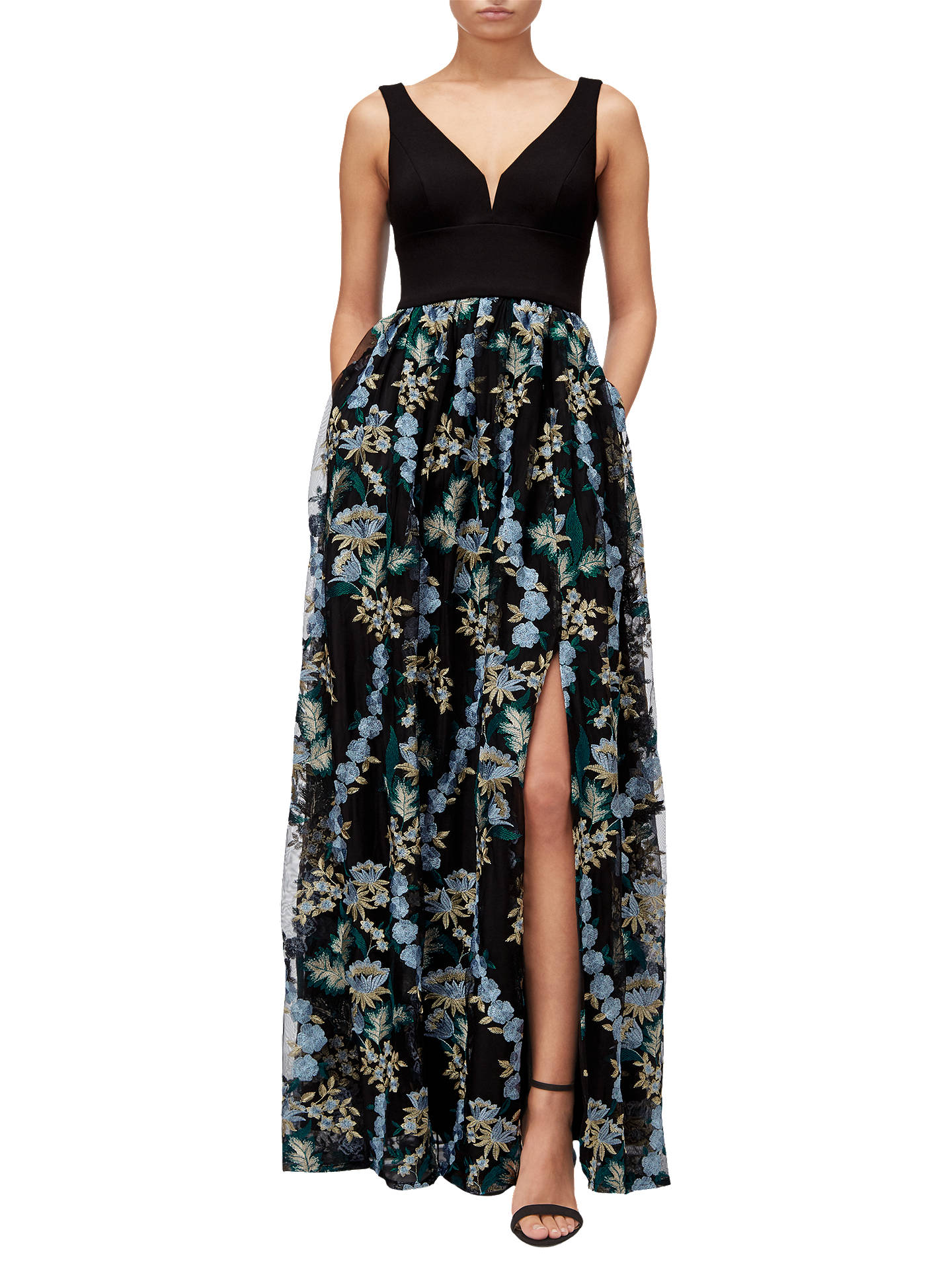 ee057aaee3 Buy Adrianna Papell Embroidered Tulle Maxi Dress