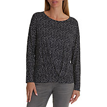 Buy Betty & Co. Dot Printed Jersey Top, Dark Blue/White Online at johnlewis.com
