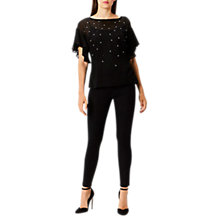 Buy Coast Angel Embellished Top, Black Online at johnlewis.com