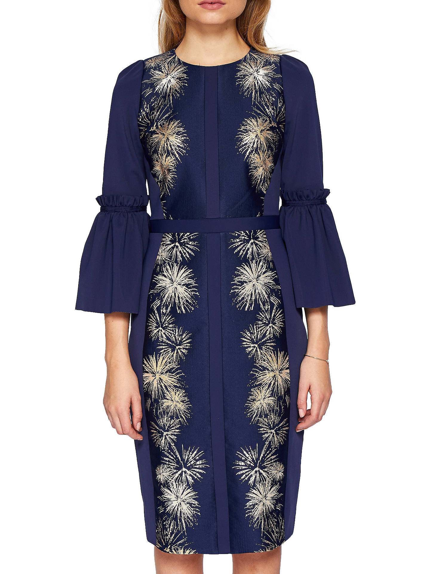 48c70c6a9 Buy Ted Baker Jeeane Stardust Flute Sleeve Dress