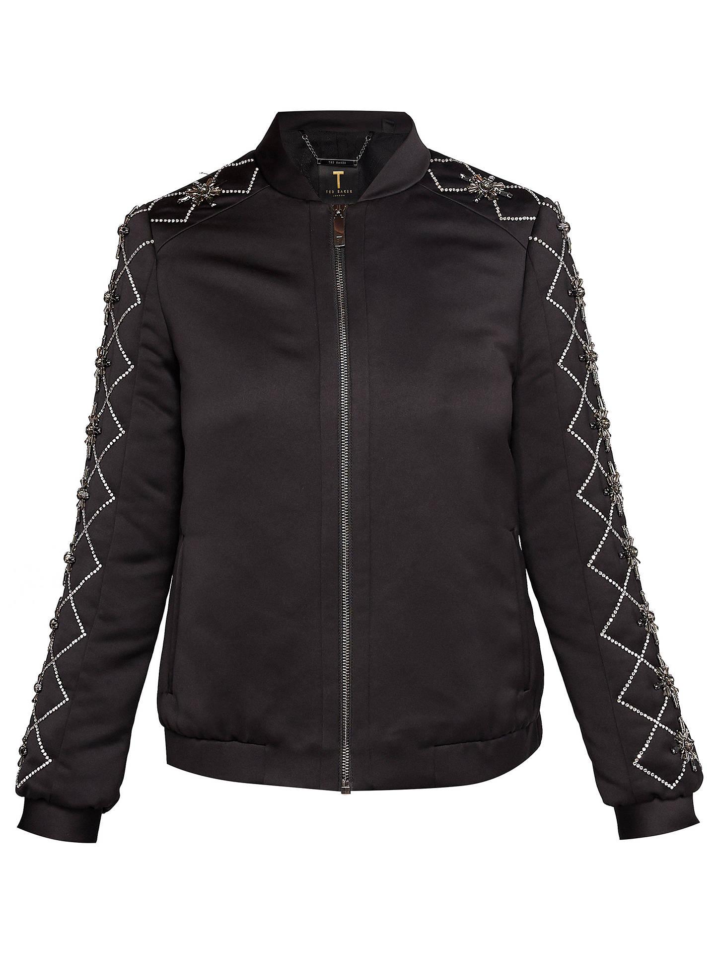 965f54737 Buy Ted Baker Jamala Embellished Satin Bomber Jacket