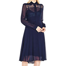 Buy Ghost Chloe Dress, Navy Online at johnlewis.com