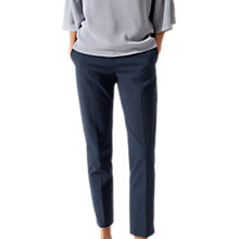 Buy Jigsaw Oval Jacquard Trousers, Navy Online at johnlewis.com
