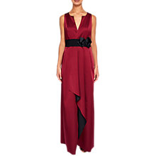 Buy Ted Baker Castale Wrap Maxi Dress, Maroon Online at johnlewis.com