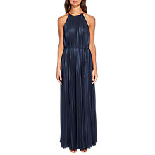 Buy Ted Baker Alcee Pleated Maxi Dress, Navy Online at johnlewis.com