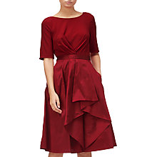 Buy Adrianna Papell Origami Taffeta and Jersey Dress, Chilli Pepper Online at johnlewis.com