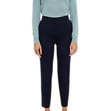 Buy Jaeger High Waist Peg Trousers, Midnight Online at johnlewis.com