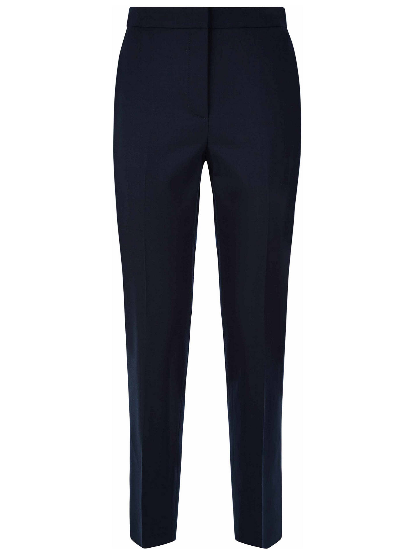 BuyJaeger High Waist Peg Trousers, Midnight, 6 Online at johnlewis.com