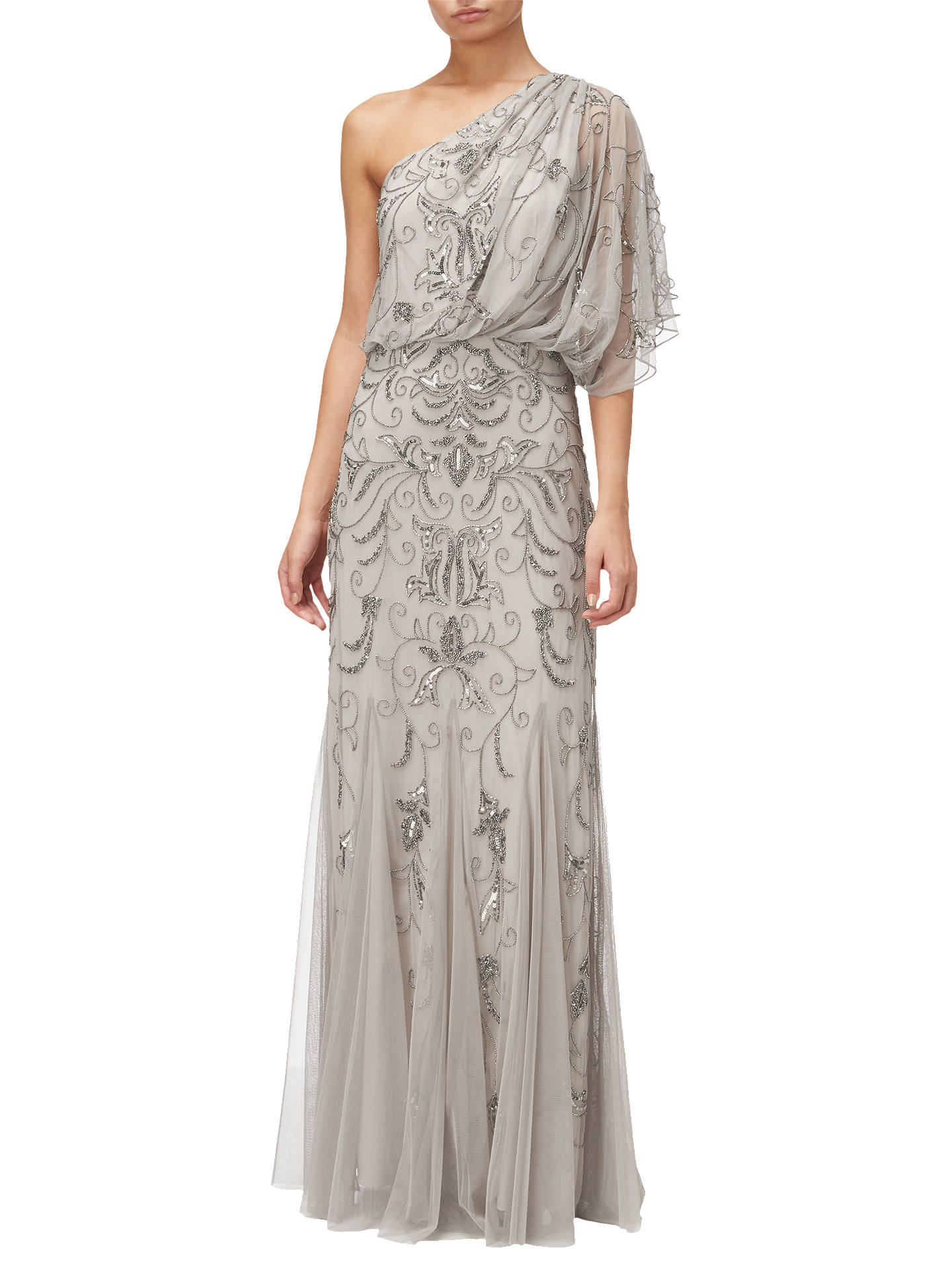 f50c81411b6 Buy Adrianna Papell One Shoulder Blouson Bead Gown
