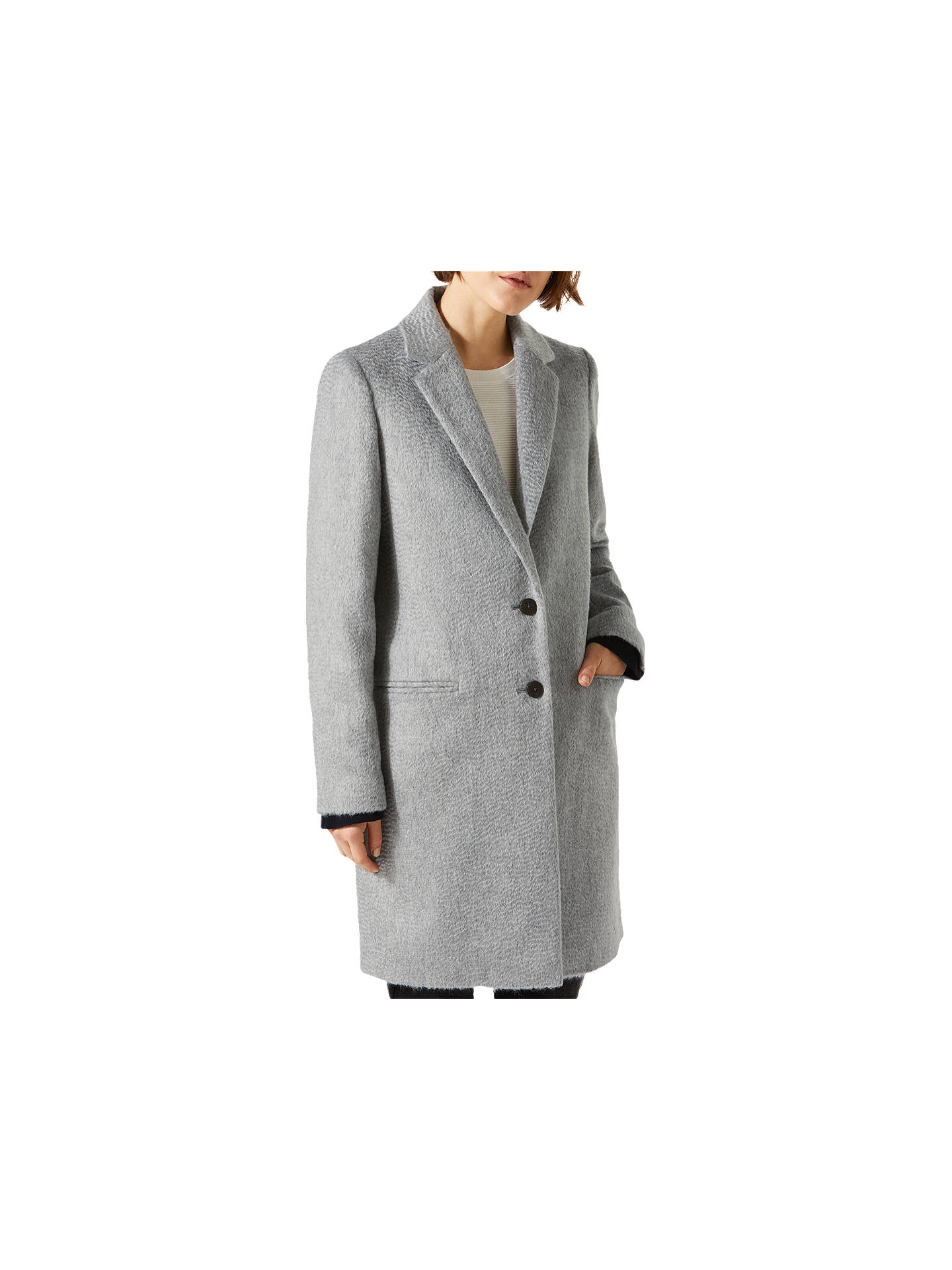 08f3e193b032 Jigsaw Single Breasted City Wool Coat at John Lewis   Partners