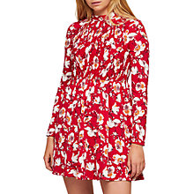 Buy Miss Selfridge Floral Print Sheered Tea Dress, Red Online at johnlewis.com