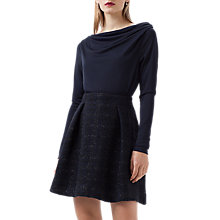 Buy Finery Shenly Woven Skirt, Black/Navy Online at johnlewis.com