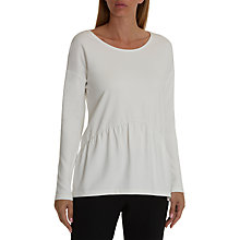 Buy Betty Barclay Ruched Hem Jersey Top, Snow White Online at johnlewis.com