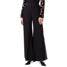 Buy Finery Stanley Opaque Stripe Trousers, Black Online at johnlewis.com