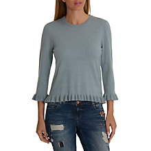 Buy Betty Barclay Knitted Frill Top, Smokey Blue Online at johnlewis.com