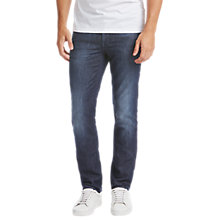 Buy BOSS Helsinki Slim Fit Jeans, Medium Blue Online at johnlewis.com