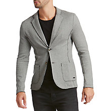 Buy BOSS Casual Wacante Jersey Jacket, Pastel Grey Online at johnlewis.com
