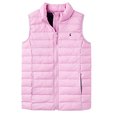 Buy Little Joule Girls' Croft Padded Gilet, Purple Online at johnlewis.com