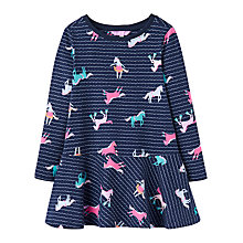 Buy Little Joule Girls' Josie Jersey Trapeze Dress, Blue Online at johnlewis.com