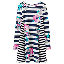 Buy Little Joule Girls' Loralie Jersey Dress, Blue/Multi Online at johnlewis.com