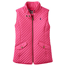 Buy Little Joule Girls' Silvan Quilted Gilet, Fuschia Online at johnlewis.com
