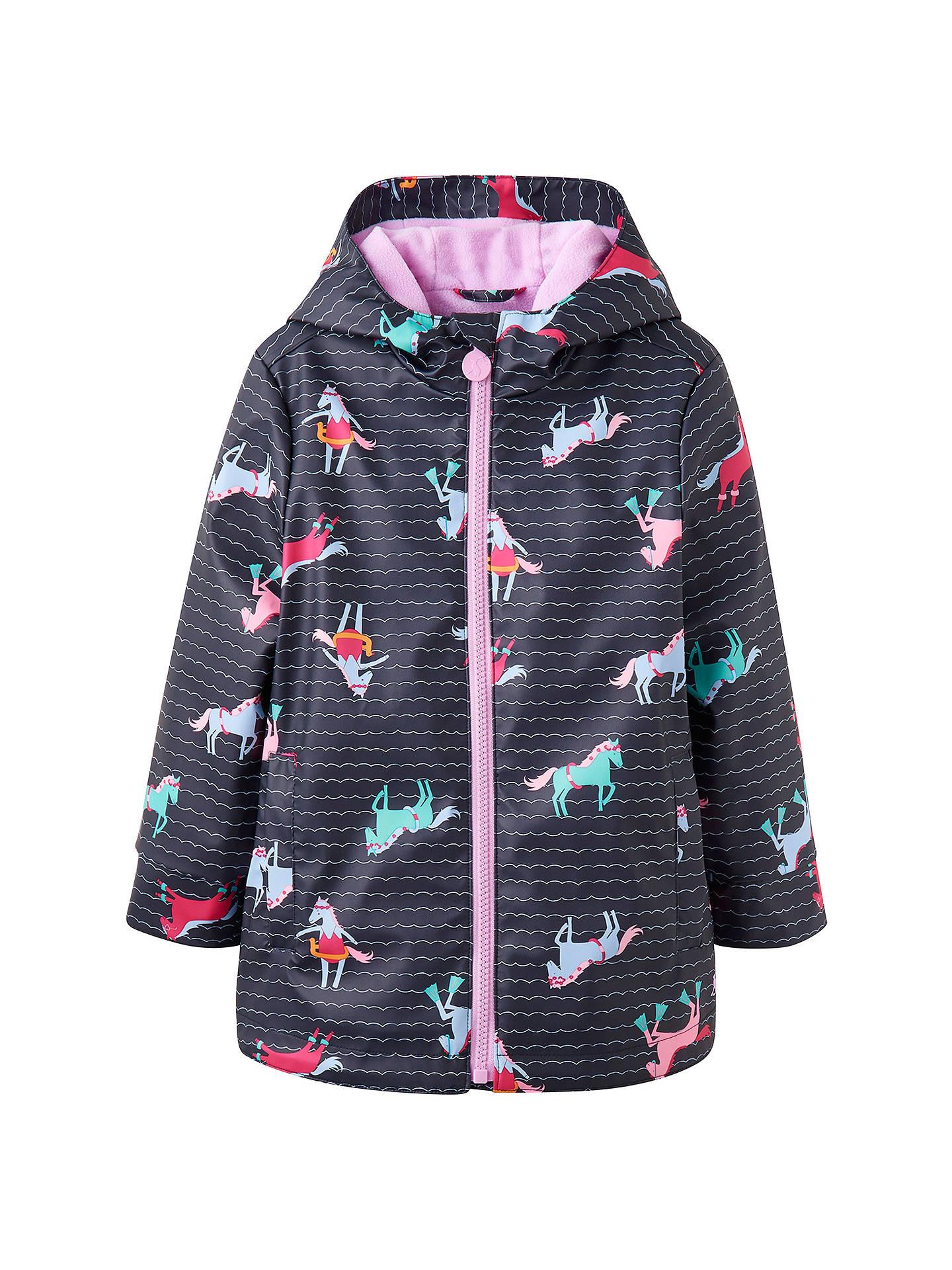 ef1c86cfc Buy Little Joule Girls' Raindance Horse Waterproof Coat, Navy, 7-8 years ...