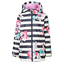 Buy Little Joule Girls' Rain Dance Floral Coat, Multi Online at johnlewis.com